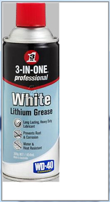 11063 - 3-In-One White Lithium Spray Grease 300g