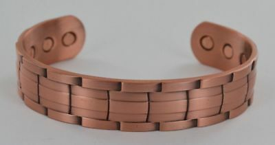 Pure Copper Bangle Father Of The Bride Gift Magnetic Therapy Cuff Bracelet Watch