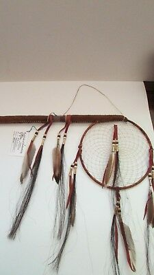 "Authentic Acoma Tribal Native American Dream Catcher & 18"" Coup Stick By Juanico"