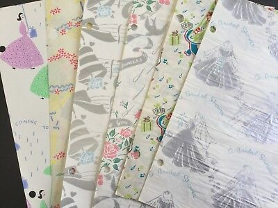 vintage bridal shower wrapping paper assortment of 6 sheets