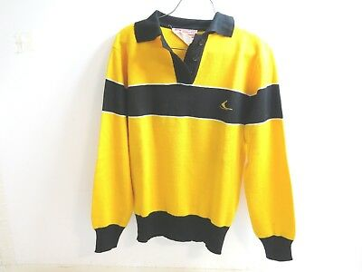 Vintage Ski Doo Bombardier Snowmobile Sweater Yellow With Black Large Womens