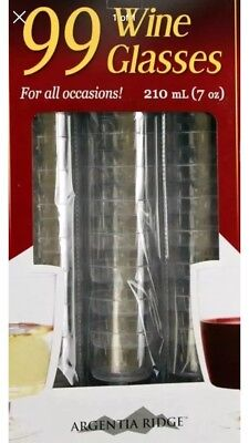 Disposable Wine Glasses Red White Wine Clear Premium Plastic 99 Pcs 210 Ml