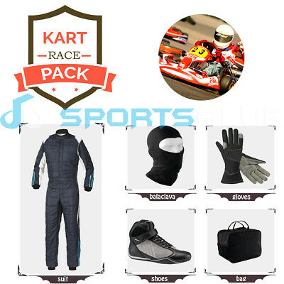 Go Kart Race suit(includes Suit, Gloves,Balaclava & Shoes)free bag- best design