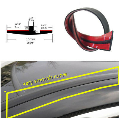 9M Car Door Edge Protector Trim Black Rubber Moulding Seal Strip Waterproof New