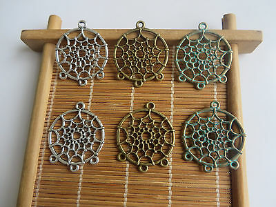 10pcs Pretty Dream Catcher Boho Charms Pendants Jewelry Making Findings