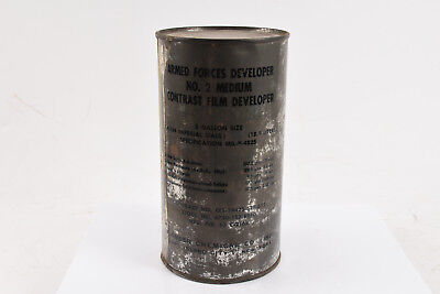 U.S Military Film Developer Powder No 2 Medium Contrast 5 Gallon Vietnam Era NOS
