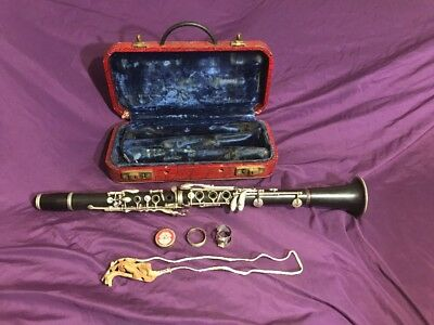 Vintage G Penzel Clarinet with Case New York Serial 10865 FOR PARTS OR REPAIR