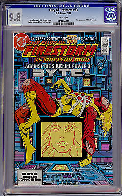 Fury of Firestorm #23 CGC 9.8 White Pages 1st first FELICITY SMOAK DC 1984 Arrow