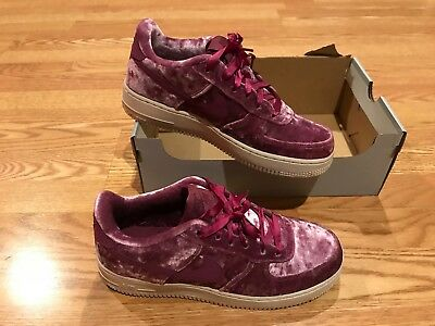 économiser 45304 679c8 NIKE AIR FORCE 1 One suede velvet LV8 Tea Berry shoes ribbon laces 6.5  bordeaux
