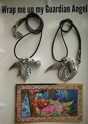 Code 826 Wrap me up my Guardian Angel Howlite Infused Necklace U r buying 1 only