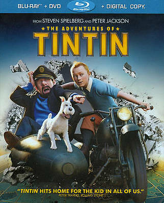 The Adventures of Tintin (Blu-ray/DVD,2-Disc Set), Jamie Bell, Daniel Craig, DVD