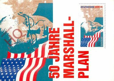 Picture Postcard:-The Marshall Plan, 50 Years (50 Jahre)