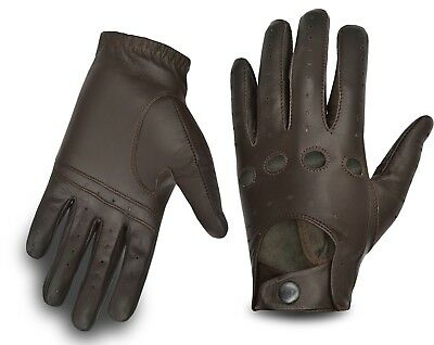 Mens Driving Gloves Slim Fit Leather Professional Classic Chauffeur Car Glove