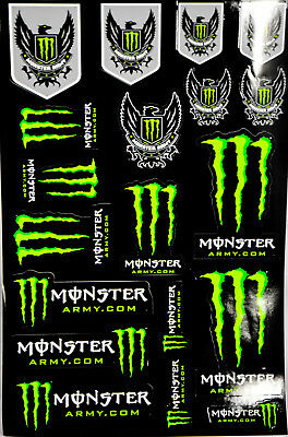 monster energy original aufkleber sticker kralle. Black Bedroom Furniture Sets. Home Design Ideas