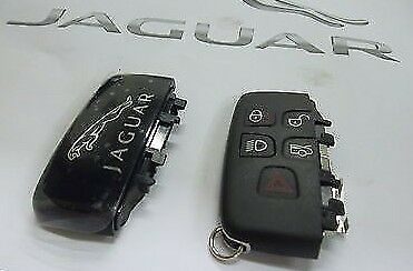 Genuine Jaguar XF,XJ Key Fob Cover With Leaper on back C2D39384
