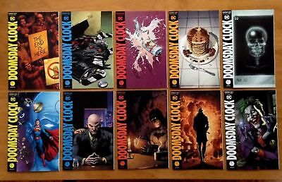 Doomsday Clock 1, 2, 3, 4, 5 Covers A + B Gary Frank Watchmen 1st Prints DC NM+