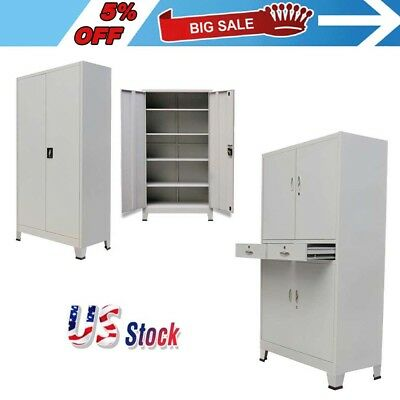 Locking OFFICE CABINET with 2 Doors/4 Doors Steel filing  storage with drawer