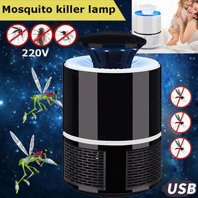 USB LED Electric Mosquito Zapper Killer Fly Insect Bug Trap Lamp Light Bulb UK