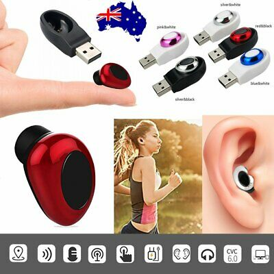 Wireless Bluetooth Earphone Magnet USB Charging Ear Buds Cordless Handsfree AU