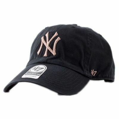 47 Brand Mlb New York Yankees Clean Up Curved V Relax Fit Casquette Noir  Homme 8f0aa6355c54
