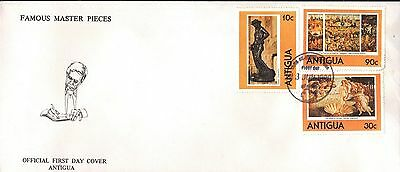 Antigua 1980 First Day Cover  - Art Paintings