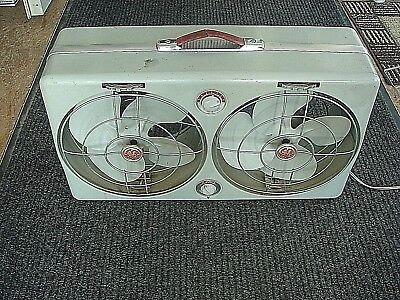 Vintage Art Deco General Electric GE Thermostat Dual Directional Window Fan Runs
