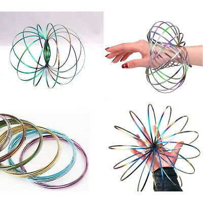 3D Flow Ring Toys Magic Kinetic Spring Infinity Arm Slinky Juggle Dream Dance