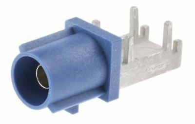 Telegartner Right Angle SMB Connector Male Surface Mount Coaxial Plug, Solder Te