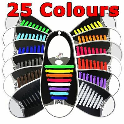 No Tie Elastic Silicone Shoe Laces Shoelaces Sneakers Runners Child Adult Unisex