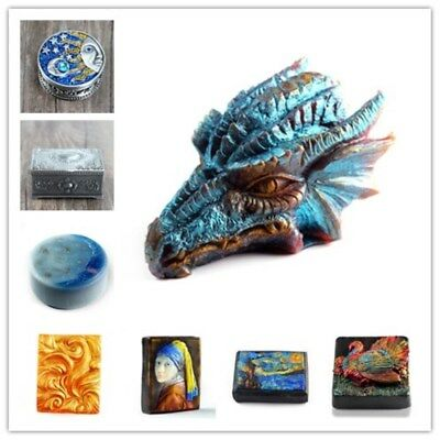Silicone Soap Bar Mold Dragon Bird DIY Craft Handmade Soap Candle Resin Mould