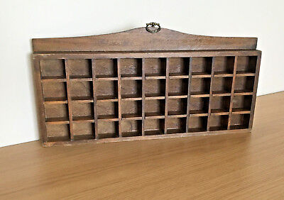 Wooden Thimble Display Rack / Holder Holds 36 Thimbles Wall Mountable