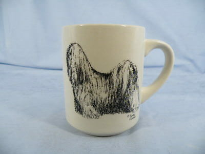 Vintage Tibetan Terrier Coffee Mug Ceramic Cindy Furmer