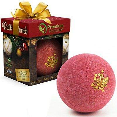 Bath Bomb Christmas Bubble Bath Fizzy Relaxing Scent Essential Oils Ornament