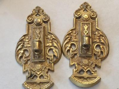 Antique French Unique Nouveau Dore Bronze 1 Arm Wall Mini Sconces