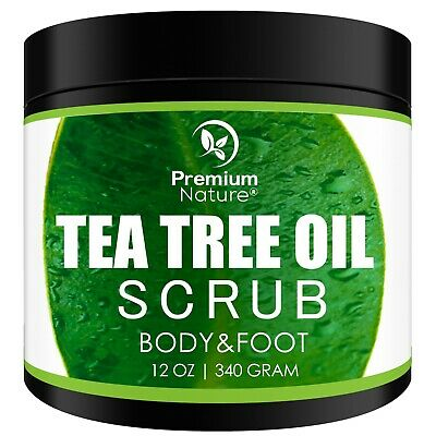 Tea Tree Oil Scrub 12oz  Body & Foot  Antifungal Calluses Jock Itch Dandruff