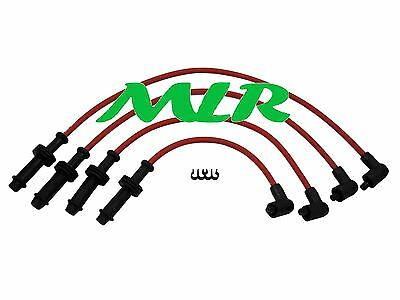 Citroen Ax Gti Zx Saxo Vtr Xsara Red 8Mm Silicone Ignition Ht Leads Ao