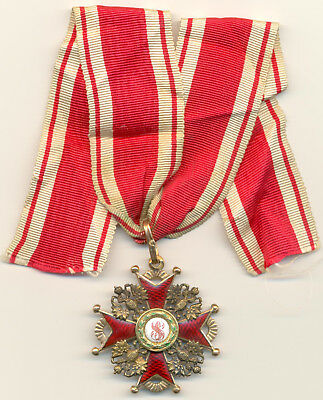 Russian Imperial Order of St. Stanislaus Third Class Breast Badge by Eduard