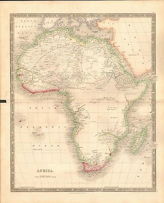 1843 Antique Map- Dower - Africa