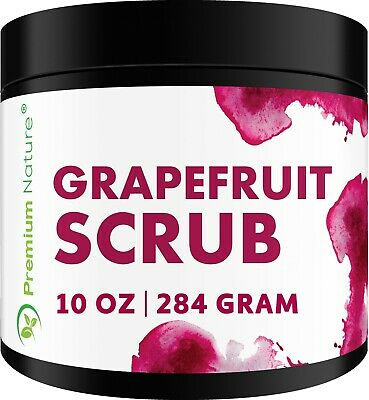 Grapefruit Body Scrub 12oz Best Skin Exfoliating For Face And Lip & Body
