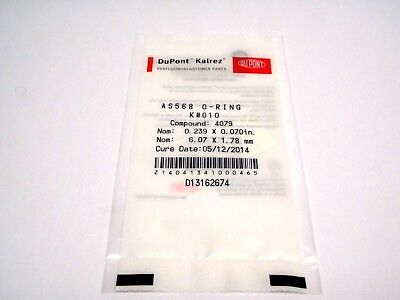 New DuPont Kalrez AS-568 O-Ring K#010 Compound 4079 0.239x0.070mm 6.07x1.78 In