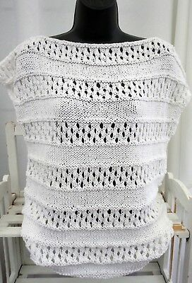 Cotton summer top knitting kit UK size 20