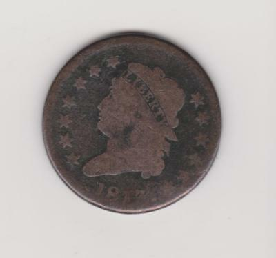 Very Scarce 1813 Large Penny Good  Detail/color