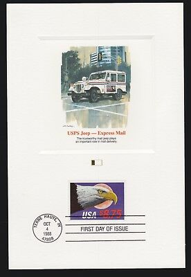 US 1988 $8.75 2394 USPS Jeep Express Mail Fleetwood Proof Card
