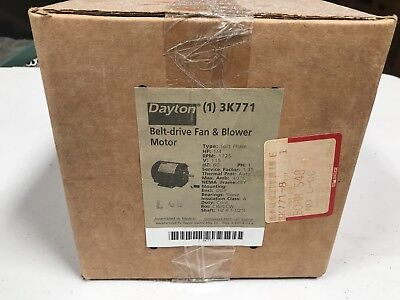 DAYTON 3K771 Motor, 1/4 HP, Split Ph, 1725 RPM, 115 V