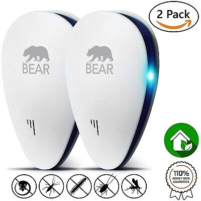 Ultrasonic Pest Repeller | UPGRADED DUAL 2018 PACK Fast Mouse And Rat Indoor 2