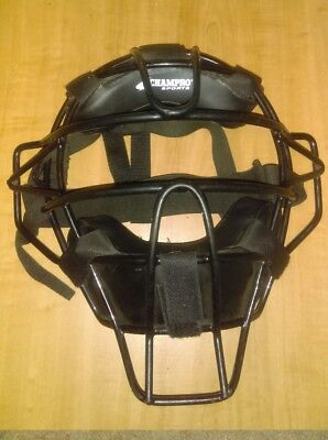 Champro Sports Adult Baseball/Softball Umpire Mask Black CM63