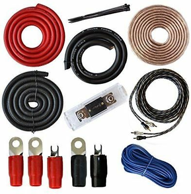 Wire Gauge Set Amp Kit Amplifier Wiring Complete 0 Ga Installation Cables 4000W