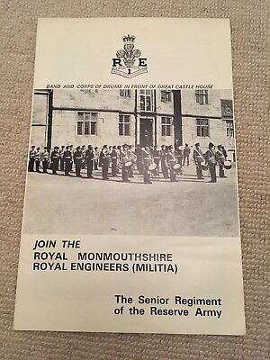 Royal Monmouthshire Royal Engineers (Militia) 1970s Recruiting Leaflet