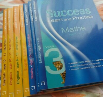 LETTS KS2 SUCCESS LEARN PRACTISE MATHS/ENGLISH YEARS 7-11 - 7 Books ...