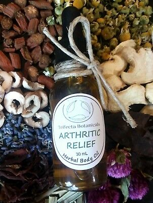 Arthritis Oil Pain Relief Herbal Natural Organic Oil Inflammation Aromatherapy